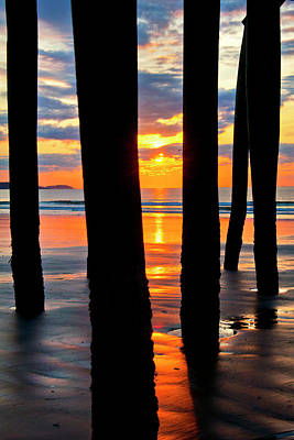 Photograph - Old Orchard Beach Pier Sunrise - Maine by Joann Vitali