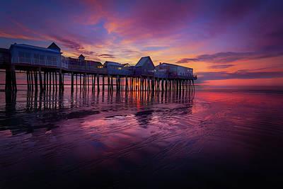 Photograph - Old Orchard Beach Sunrise by Dana Plourde
