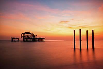 Photograph - Old Pier by Marzena Grabczynska Lorenc