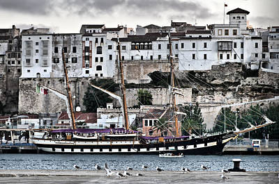 Old Port Mahon And Italian Sail Training Vessel Palinuro Hdr Art Print