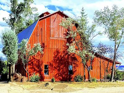 Photograph - Old Red Barn by Carole Martinez