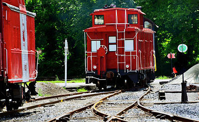 Photograph - Old Red Caboose by Paul W Faust - Impressions of Light