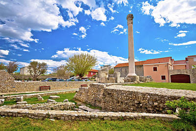 Photograph - Old Roman Ruins In Town Of Nin by Brch Photography