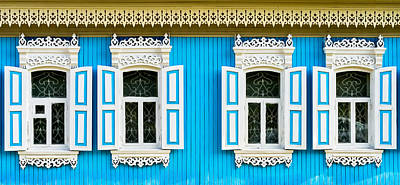 Photograph - Old Russian Wooden Window Frames by John Williams