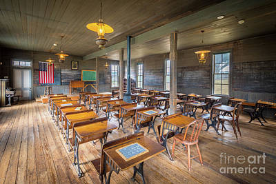 Photograph - Old Schoolroom by Inge Johnsson