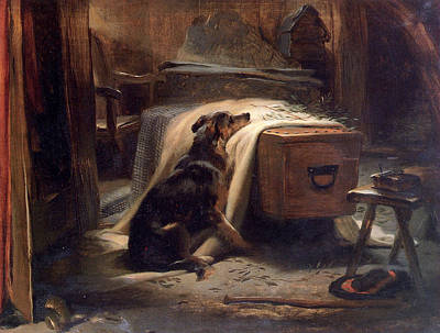 Old Shepherds Chief Mourner Art Print by Landseer Edwin