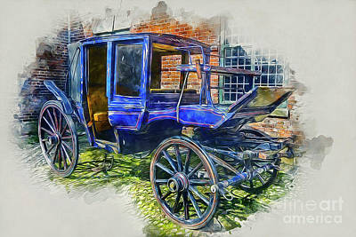 Mixed Media - Old Stagecoach by Ian Mitchell