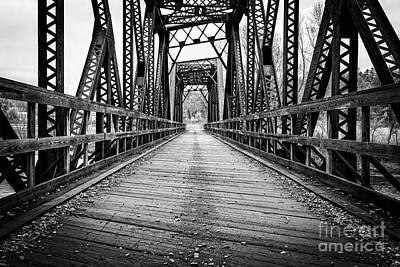 Oldest Train Photograph - Old Steel Train Bridge by Edward Fielding