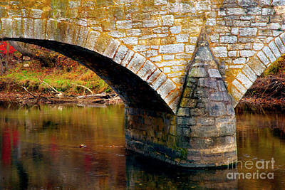 Photograph - Old Stone Bridge by Paul W Faust - Impressions of Light