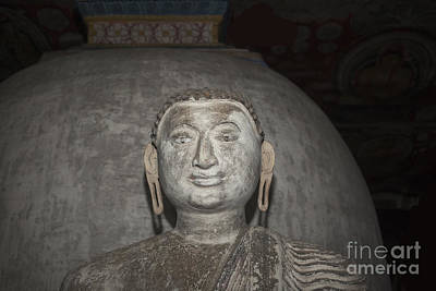 Photograph - Old Stone Buddha Statue by Patricia Hofmeester