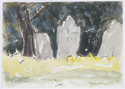 Headstones Painting - Old Tombstones by Arthur Dove