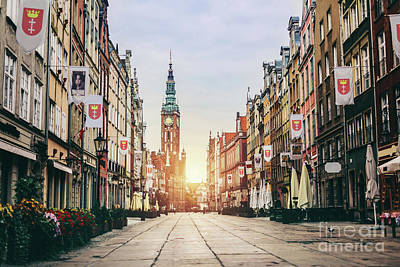 Photograph - Old Town In Gdansk, Poland - Dluga Street. by Michal Bednarek