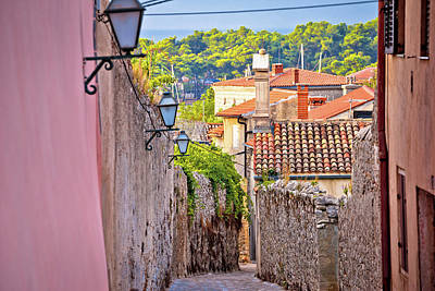 Photograph - Old Town Of Krk Stone Street View by Brch Photography