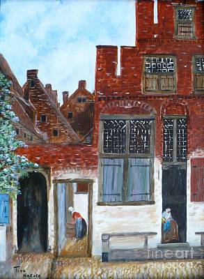 Vemeer Painting - Old Town  by Tina Haeger