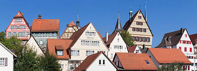 Old Town With Half-timbered Houses Art Print