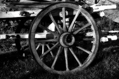 Photograph - Old Wagon Wheel by Jacqueline Macou