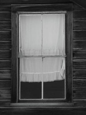 Photograph - Old Window With Lace Curtain by Marcia Socolik