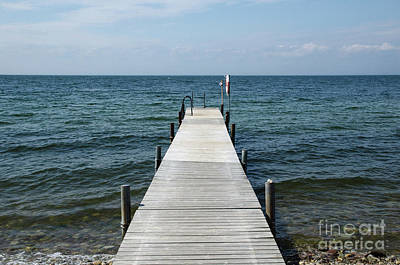 Photograph - Old Wooden Bath Pier by Kennerth and Birgitta Kullman