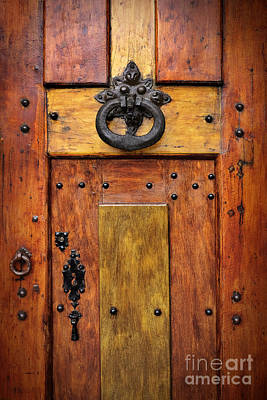 Old Wooden Door Art Print