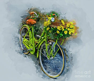 Old Door Mixed Media - Olde Vintage Bicycle by Ian Mitchell