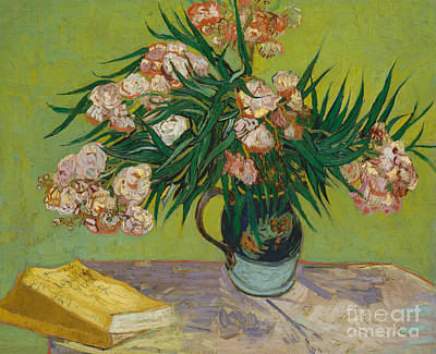Oleander Painting - Oleanders, 1888 by Vincent Van Gogh