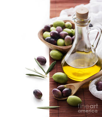 Black Diet Photograph - Olive Oil by Jelena Jovanovic