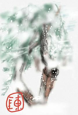 Digital Art - Olivo Nella Neve by Debbi Saccomanno Chan