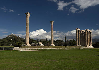 Photograph - Olympieion Ruins In Athens Greece. by Radoslav Nedelchev