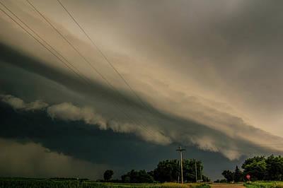 Photograph - Ominous Nebraska Outflow 025 by NebraskaSC