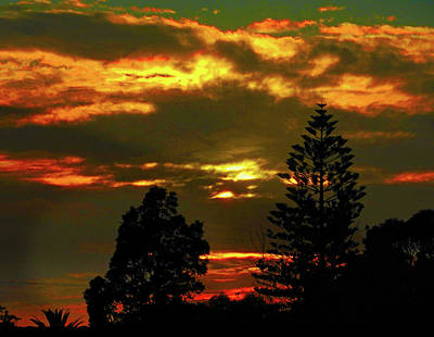 Photograph - Ominous Sunset by Mark Blauhoefer