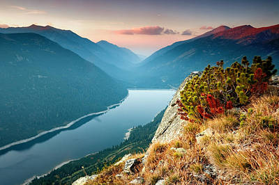 Lake Photograph - On The Edge Of The World by Evgeni Dinev