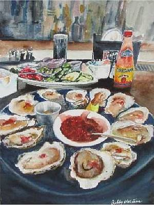 Painting - On The Half Shell by Bobby Walters
