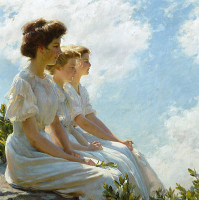 Painting - On The Heights by Charles Courtney Curran