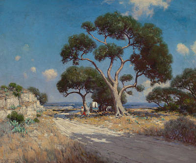 Painting - On The Old Blanco Road, Southwest Texas by Julian Onderdonk