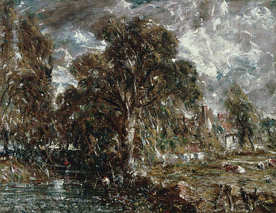 Riverside Painting - On The River Stour by John Constable