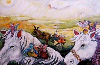Fairys Painting - On The Road Again by Susan Brown    Slizys art signature name