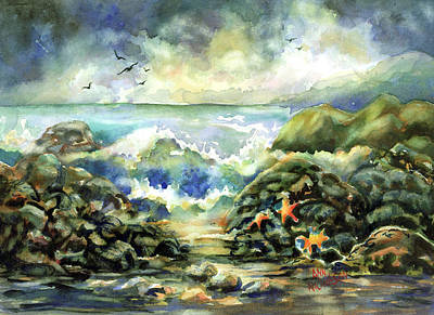 Painting - On The Rocks by Ann Nicholson