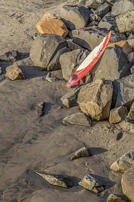 Surf Lifestyle Photograph - On The Rocks by Peter Tellone