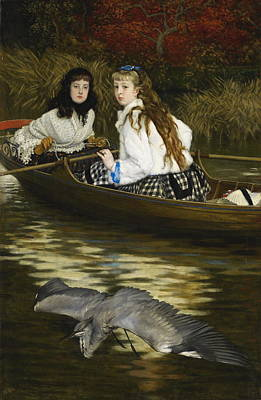 Painting - On The Thames, A Heron by James Tissot