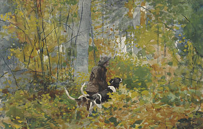 Winslow Homer Painting - On The Trail by Winslow Homer