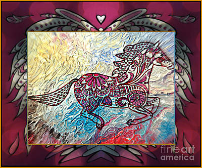 Mixed Media - On The Wings Of Love by Wbk