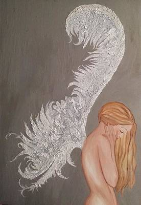 Refuse Painting - On The Wings Of Love by Wendy Wunstell