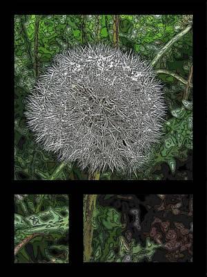 Weed Digital Art - One Dandy Lion 3 by Tim Allen