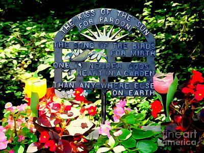 Photograph - One Is Nearer Gods Heart In A Garden by Ed Weidman