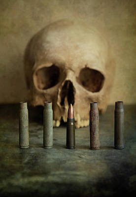 One Last Bullet Art Print by Jaroslaw Blaminsky