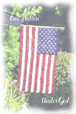 Digital Art - One Nation Under God by Lynn Bauer