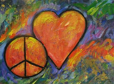 One Peace One Heart Art Print