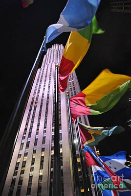 Photograph - Flags At One Rockefeller Center by Jacqueline M Lewis