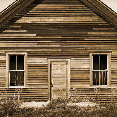 One Room Rural School Sepia Toned Art Print by Donald  Erickson