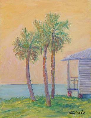 Painting - One St. Augustine Morning by Patty Weeks